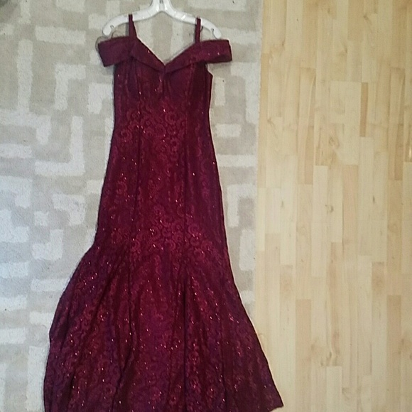 10a8169e R & M Richards Dresses | Formal Wine Red Evening Gown | Poshmark